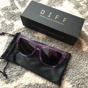 NIB Diff Eyewear Harper Amethyst Sunglasses